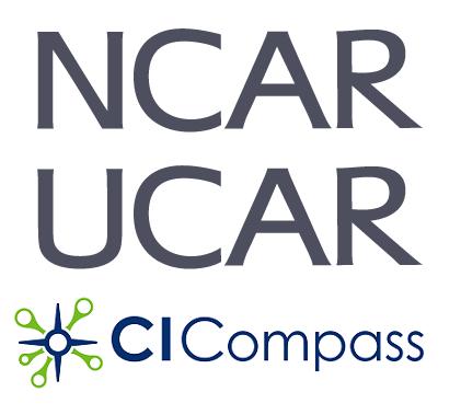 NCAR UCAR and CI Compass logos