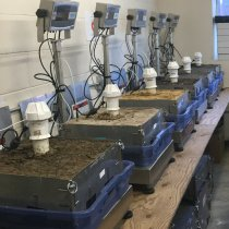 Soil calibration in lab