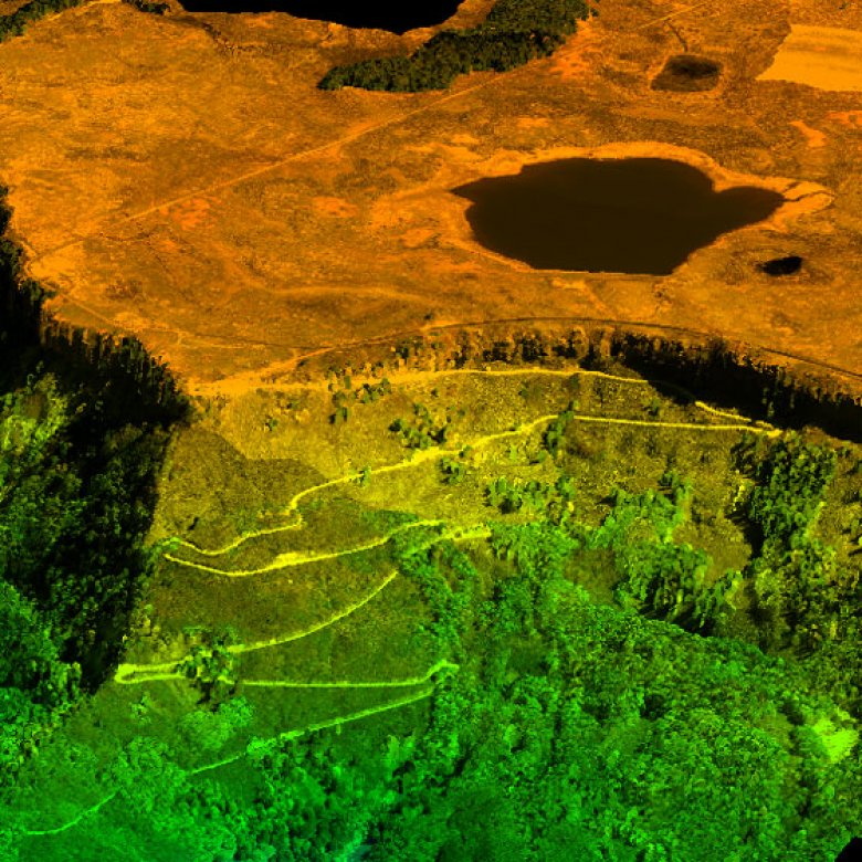 Lidar data showing Grand Mesa